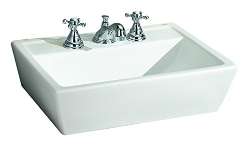 Cheviot Products Inc. 1237/18-WH-1 Sentire Vessel Sink 1 Faucet Hole, 18'' x 15 3/4'', White by Cheviot Products Inc.