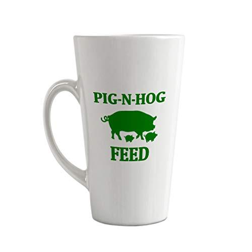 Style In Print Forest Green Pig N Hog Feed Ceramic Latte Mug - 17 OZ