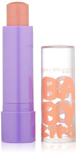 Maybelline New York Baby Lips Moisturizing Lip Balm, Peach Kiss, 0.15 Ounce