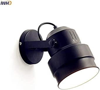 HNZZN Nordic Vintage LED Lámpara de pared Wandlamp Dormitorio Lampe junto a lámpara LED Escalera Luz Aplique de pared Negro Lamparas de Pared, 1,0-5W: Amazon.es: Iluminación