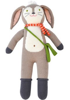 (Blabla Pierre The Bunny Plush Doll - Knit Stuffed Animal for Kids. Cute, Cuddly & Soft Cotton Toy. Perfect, Forever Cherished. Eco-Friendly. Certified Safe & Non-Toxic.)