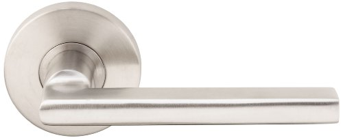 INOX RA243L62-32D Rosette Tubular Privacy Set With Sunrise Lever & Backset, 2-3/8