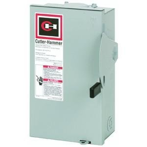 Eaton Corporation Dg221Nrb Outdoor Safety Switch, 120/240V, 30-Amp (Disconnect Box)