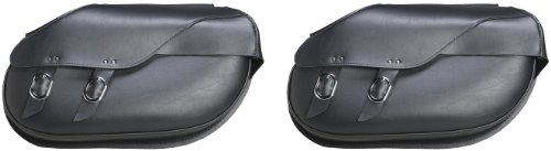 Universal Max Saddlebag Hard Mount (Willie & Max by Dowco 59480-00 Revolution Series: Large Hard Mount Synthetic Leather Retro Motorcycle Saddlebag Set, Black, 37.25 Liter Capacity)