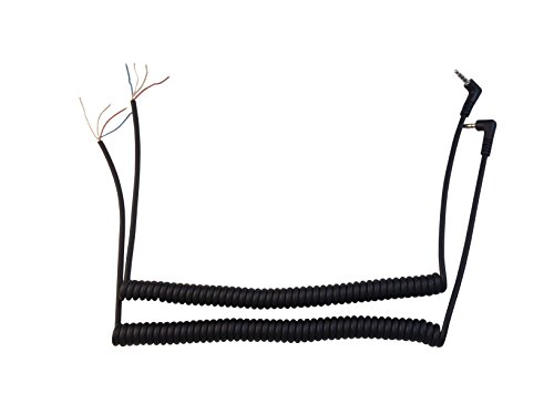 Anteenna TW-YA-REP-CABLE ( 2 PACKS ) Replacement Cable Of Remote Speaker Mic For Two Way Radio For Yaesu Vertex VX-1R VX-2R VX -5R FT-40R FT-50R FT-60R Radio 1 Pin Plug