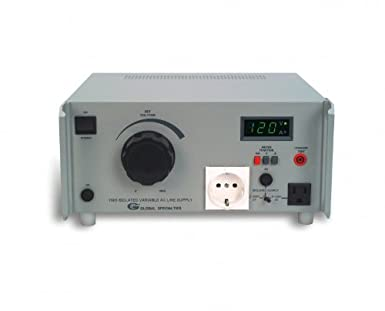 Global Specialties 1505 Dual Input Variable AC Power Source, 0-150V, 4Amp