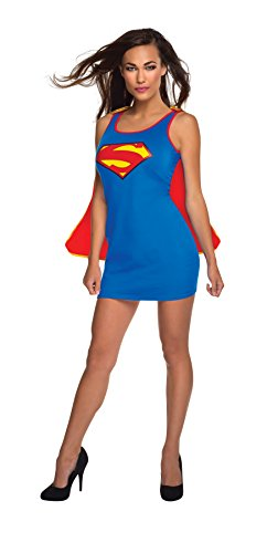 Rubie's Costume Co Women's DC Superheroes Supergirl New 52 Series Tank Dress, Multi, Large (Supergirl Sexy Costume)