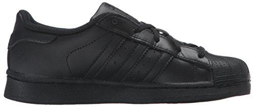 Adidas Kids Superster Stichting El C Sneaker Zwart / Zwart / Zwart
