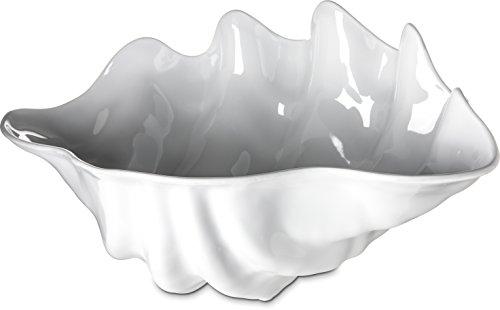 Carlisle 34402 Clam Shell Buffet Bowl, 5.20 Quart Capacity, Plastic, White ()