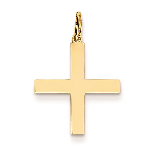 14K Yellow Gold Greek Cross Charm Pendant