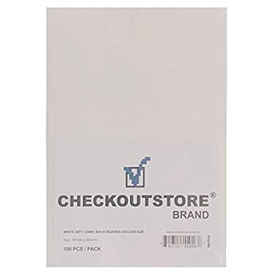 (100) CheckOutStore Comic Books Backing Boards (Golden Age - White): Office Products