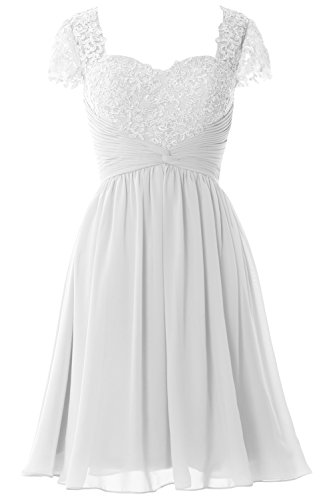 Macloth Wedding White Mother Of Sleeve Lace Short Bride Dress Party Women Cap 46rqUA4