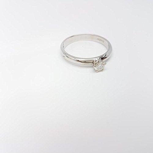 Solitaire Femme Or Femme dgs0010.18or blanc diamant