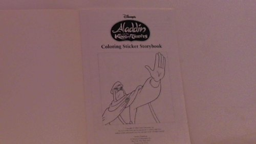 Disney;s Aladdin and the King of Thieves Coloring Sticker Storybook