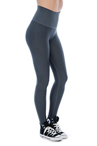 Unique Styles Womens Leggings High Compression Fitness Yoga Pants (Grey, Medium/Large) Review