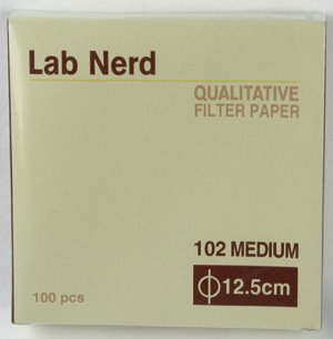 12.5 cm - 102 Qualitative Filter Paper by Lab Nerd