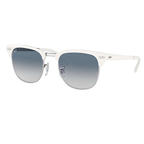 Ray-Ban RB3716 9088/3F CLUBMASTER Sunglasses 51mm - Ban White Clubmaster Ray