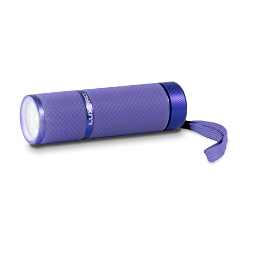 LUX-PRO LP395-PR Gels Glow in Dark 9 LED Flashlight, ()