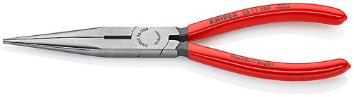 - Knipex 2611200 Long Nose Pliers with Cutter, 8 Inch