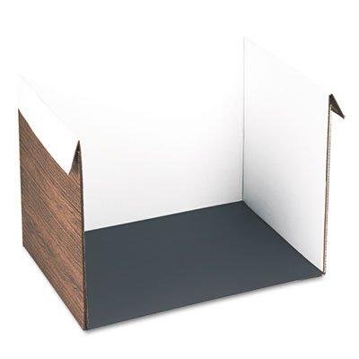 Corrugated Study Carrel, 25w x 18d x 17h, Woodgrain (Corrugated Study Carrel)