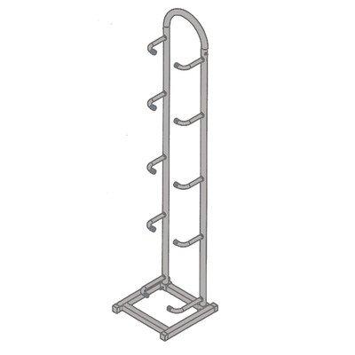 CanDo 10-3120 Plyometric Rack, Vertical, 5-Ball Capacity by Cando