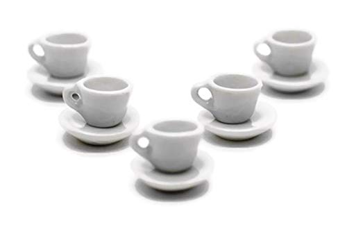 10 Set White Coffee Mug Tea Cup S Size Dollhouse Miniatures for sale  Delivered anywhere in USA