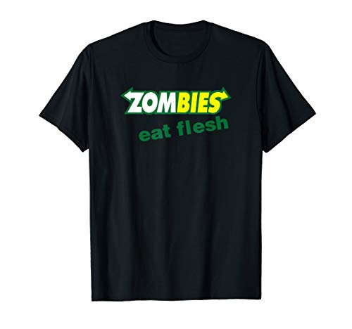 Funny Zombies Eat Flesh Scary Food Halloween Costume T Shirt -