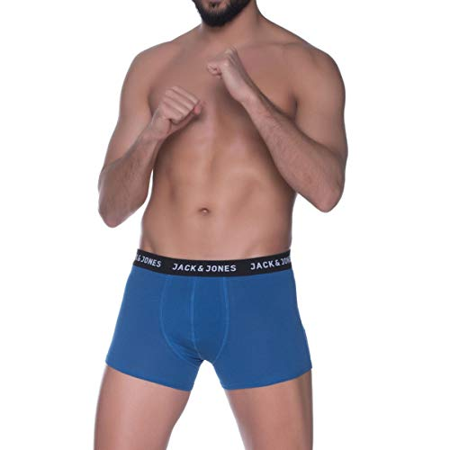 One Pair Mens Jack /& Jones Arron 2 Pack Boxer Shorts In Blue Red One Pair Blue
