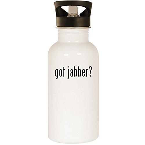 got jabber? - Stainless Steel 20oz Road Ready Water Bottle, White -