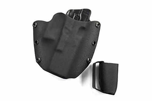 """Advanced Performance Shooting Holsters """"Protective Services Elite"""" with Magazine Pouch Combo (OWB, Red Carbon Fiber)"""
