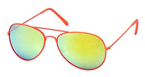 fluo 5 couleurs Miroirs et coloris verres lunettes Oranges Pilote FTxXq88wf