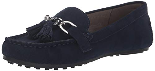 Aerosoles Women's Soft Drive Loafer, Navy Suede, 8 W - Aerosol Select