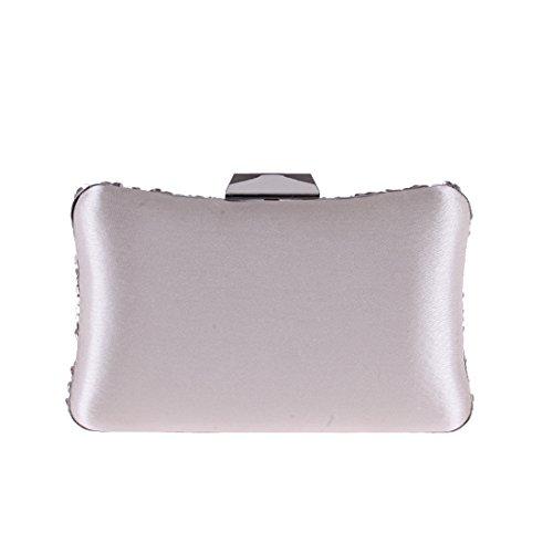 Bag Wallet Party Bag Flash Rose Clutch Handbag Silver Purse Evening Embroidered Bag Women's JESSIEKERVIN Dress aPOwqZH