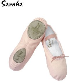 SANSHA Baby 15C Star-Split Pink D Medium (US Sizes Children 10.5) Ballet Flat, M BR Toddler