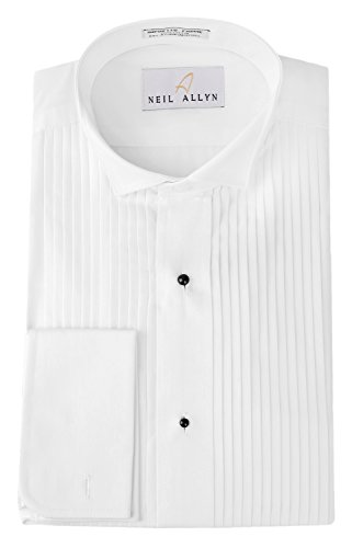 Tuxedo Shirt By Neil Allyn - 100% Cotton Wing Collar with French Cuffs (15 - 34/35)