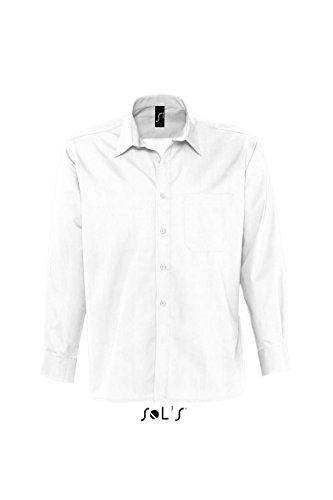 SOL´S Mens Long Sleeved Shirt Bradford, Größe:4XL, Farbe:White
