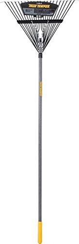 True Temper 2604512 Steel 22-Tine Leaf Rake with Hardwood Handle, 22 Inch