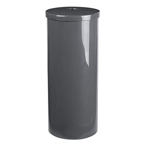 Gray Stores 3 Rolls mDesign Plastic Toilet Tissue Paper Holder Canister
