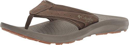 Columbia Techsun Flip PFG Sandal - Mud/Collegiate Navy - Mens - (Columbia Suede Sandals)