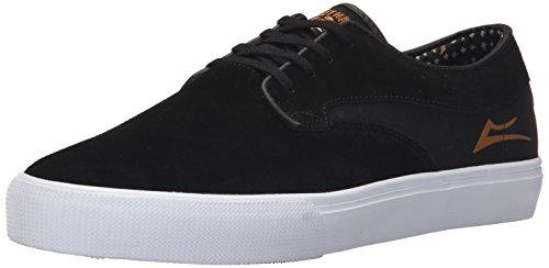 Hawk Footwear (Lakai Men's Riley Hawk Skate Shoe, Black Suede, 9 M US)
