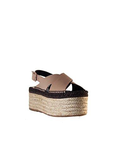 Palomitas - Sandalias de vestir de Piel para mujer Beige