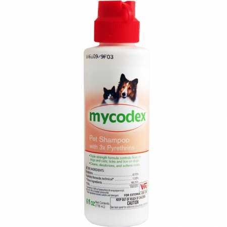 Mycodex Pet Shampoo (Pfizer Mycodex Shampoo with 3X Pyrethrins (6oz))