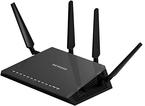NETGEAR Nighthawk X4S Smart WiFi Router (R7800) - AC2600 Wireless Speed (up to 2600 Mbps) | Up to 2500 sq ft Coverage & 45 Devices | 4 x 1G Ethernet, 2 x 3.0 USB, and 1 x eSATA ports