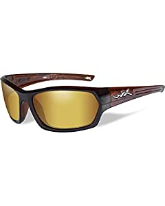 Wiley X Men's Legend Polarized Venice Gold Gloss Hickory Sunglasses - Ssleg04