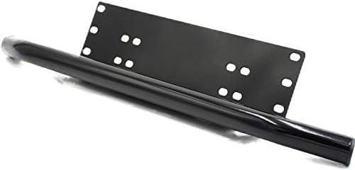 HYY-YY Universal Black Stainless Steel License Plate Light Bracket LED Work Light Bracket LED Strip Light Bracket US Version European Version Modified mirror
