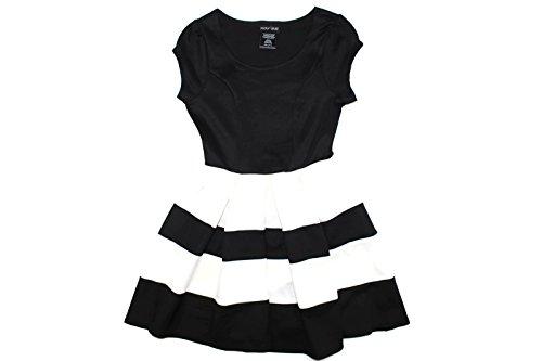 Girls Black White Striped Sleeve product image