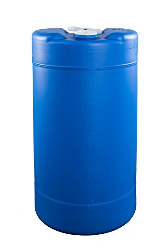 (15 Gallon Emergency Water Storage Barrel - BPA Free, Portable, Food Grade Plastic - Survival Preparedness Water Supply)