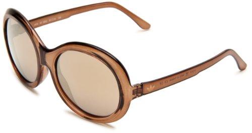 adidas Women's Avignon Ah35-6053 Round Sunglasses,Brown Mud Frame/Bronze Mirror Lens,56 - Sunglasses Casual Adidas