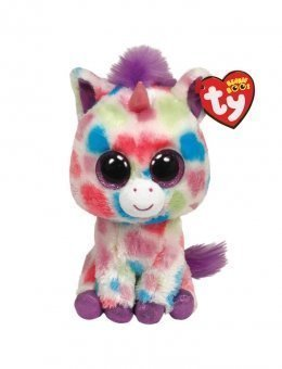 Amazon.com  Ty Beanie Boos Wishful - Unicorn Large (Justice ... 30d434605be
