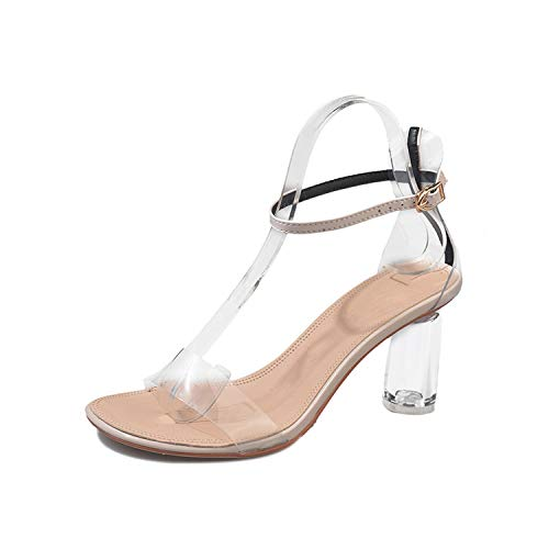 Lovely Girl Heels Summer Women Shoes Women Pumps Women Sandals Jelly Shoes Transparent Ladies Shoes,Apricot,5.5